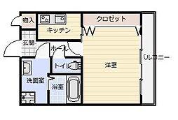 福岡県北九州市小倉北区三萩野1の賃貸マンションの間取り