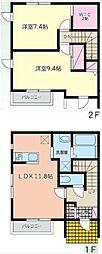 [タウンハウス] 千葉県市川市東菅野2丁目 の賃貸【/】の間取り