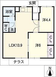 紫雲荘 I・II[1階]の間取り