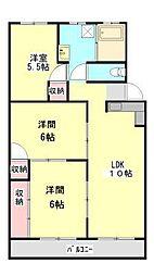 芦田コーポ[3階]の間取り