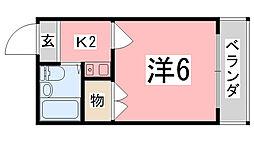 メゾン・ド・KY西飾磨[204号室]の間取り