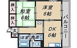 クレール桜塚[101号室]の間取り