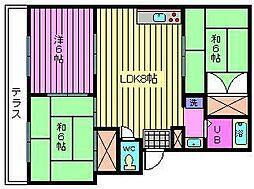ドミール吉田[2階]の間取り