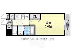 JR東海道・山陽本線 兵庫駅 徒歩14分の賃貸マンション 8階1Kの間取り