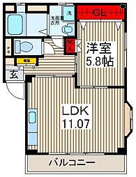 メゾン長栄III[3階]の間取り