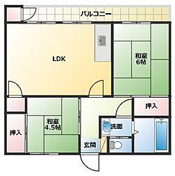 第5クロスビル[304号室]の間取り