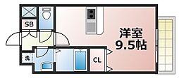 Osaka Metro千日前線 今里駅 徒歩6分の賃貸マンション 4階1Kの間取り
