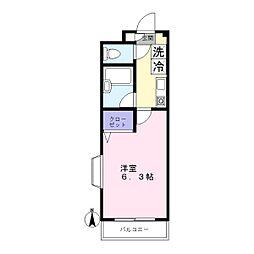 東京都大田区北千束3丁目の賃貸マンションの間取り