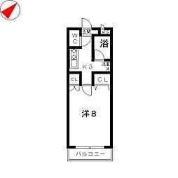 ボンボネール[2階]の間取り