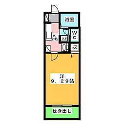 静岡県静岡市葵区柳町の賃貸アパートの間取り