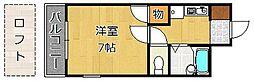 クレスト黒崎[402号室]の間取り