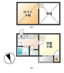 MYU浄心[1階]の間取り