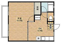 神奈川県川崎市中原区上新城1丁目の賃貸アパートの間取り