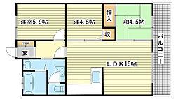 壱番館今宿マンション[104号室]の間取り