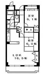 ヒルサイドヴィラ東戸塚(ヒルサイドビラヒガシトツカ)[2階]の間取り