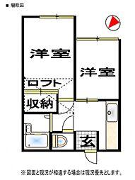 ロマンス上福岡[1階]の間取り