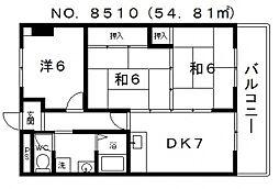 和泉シティハイツ[402号室号室]の間取り