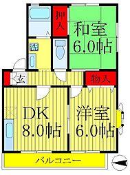 サニーコート 久保田[2階]の間取り