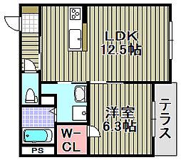 (仮称)泉佐野市高松東プロジェ[105号室]の間取り