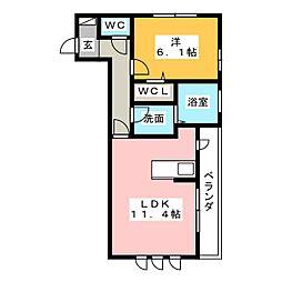 仮)元吉田町アパート[1階]の間取り