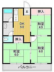 山福マンション[4O5号室号室]の間取り