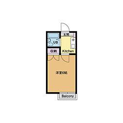 ベルメゾン桜坂[1階]の間取り