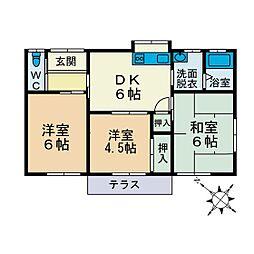 [一戸建] 神奈川県厚木市鳶尾4丁目 の賃貸【/】の間取り