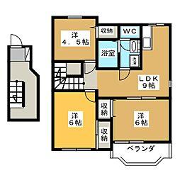 ドリームハウス B[2階]の間取り