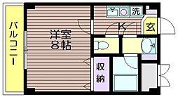 東京都調布市入間町1の賃貸マンションの間取り