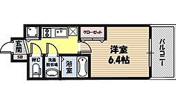 レオンコンフォート京橋 8階1Kの間取り