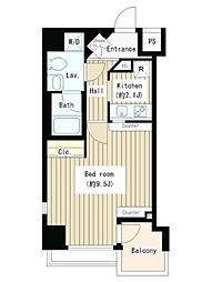 ホワイトフロント[3階]の間取り