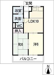 アメニティパークカワセA[1階]の間取り