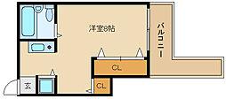 ハイネス石川[4階]の間取り