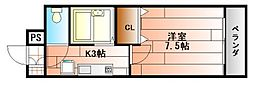 ルネッサンスTOEI田町[7階]の間取り