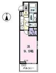 名鉄犬山線 西春駅 徒歩3分の賃貸アパート 2階1Kの間取り
