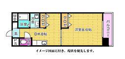 房尾本店横川橋ビル--[503号室]の間取り