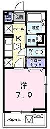 鷹匠町アパート[1-1010号室]の間取り