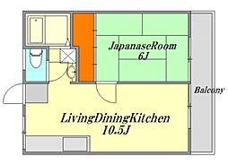 広島県廿日市市塩屋2丁目の賃貸アパートの間取り