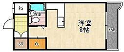 メゾンドルフレ[413号室]の間取り