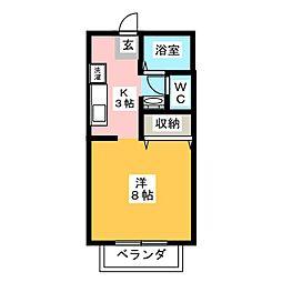 サンビレッジSAKAE[2階]の間取り