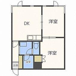 山の手セントラルマンション[2階]の間取り