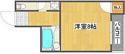 コスモレジデンス住之江[6階]の間取り