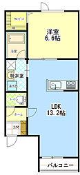 ラパーチェ529[2階]の間取り