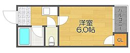 サザン住之江[5階]の間取り