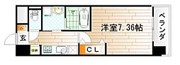 CENTER MARK三萩野[2階]の間取り
