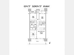 グランイーグルパークサイド大森南 bt[5階]の間取り