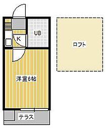 ジュネパレス松戸第92[2階]の間取り