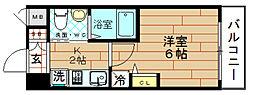 クリスタルグランツ大阪センター st[7階]の間取り