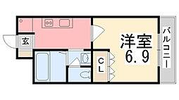 メゾンクローバー[2階]の間取り