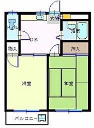 コーポ中宿[2階]の間取り